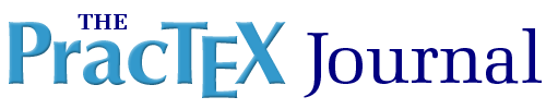 logo for The PracTeX Journal